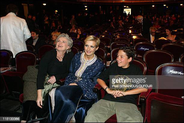 """28th """"Cesar"""" awards ceremony in theatre du Chatelet in Paris, France on February 22, 2003 - Marie-Christine Barrault, Melita Toscan du Plantier and..."""