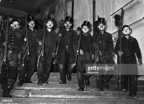 A group of chimney sweeps in West Germany now Germany