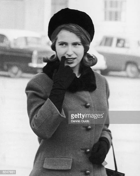 Year-old Princess Anne at London Airport, from where she will fly to Liechtenstein with Prince Philip and Prince Charles, for a skiing holiday.