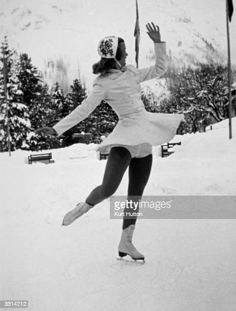 Figure skater Barbara Ann Scott of Canada at the 1948 St Moritz Winter Olympics Original Publication Picture Post 4514 How To Be A World Champion pub...