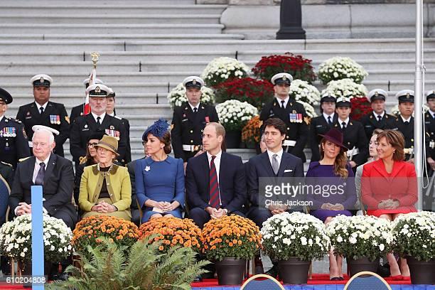 28th Governor General of Canada David Johnston, Her Excellency Sharon Johnston, Catherine, Duchess of Cambridge, Prince William, Duke of Cambridge,...