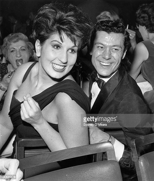 English singer Alma Cogan with dancer and entertainer Lionel Blair at the Pigalle nightclub in London