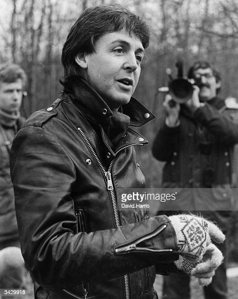 English pop star and former Beatle Paul McCartney at his farm in Rye Sussex after his deportation from Japan for drug possession