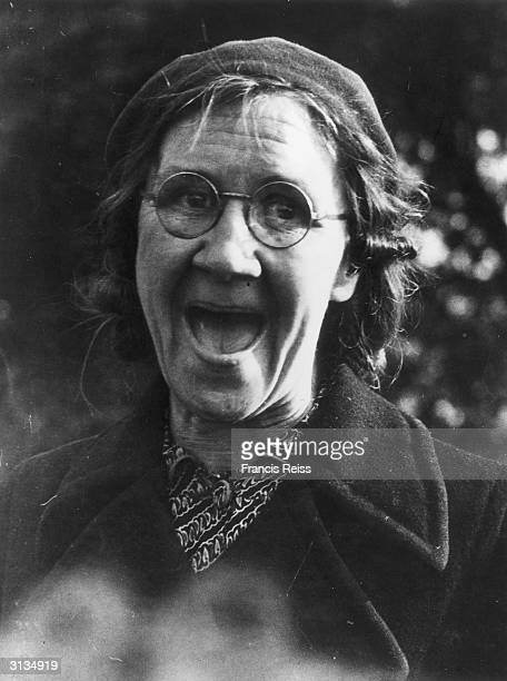 A woman at Hyde Park Corner in London where Harry Cowley the leader of a Brighton based group who organise the seizure of unoccupied houses for...