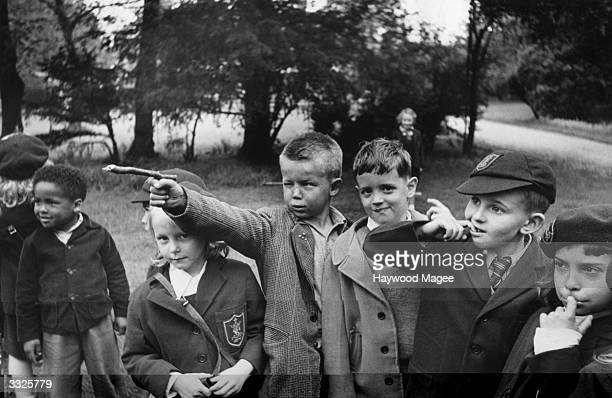 American children belonging to US servicemen stationed in Britain at the St Louis convent school in Newmarket Original Publication Picture Post 5927...