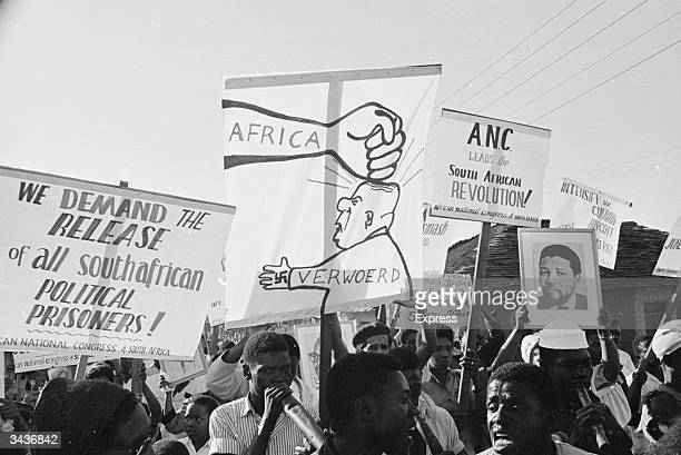 A demonstration against South Africa in Dar Es Salaam Tanzania