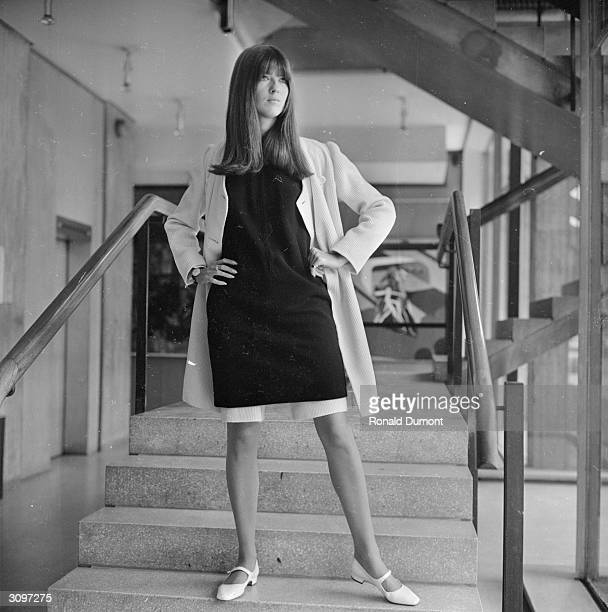 Ready Steady Go presenter Cathy McGowan modelling clothes at the Royal College of Art