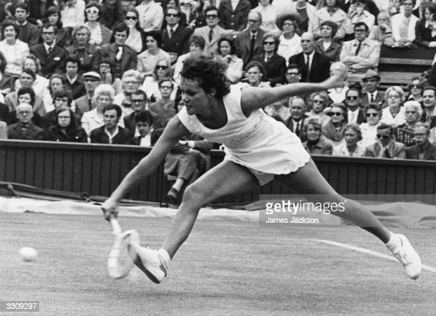 Evonne Goolagong of Australia in action at the Wimbledon Tennis Championships She lost in the final to Billie Jean King