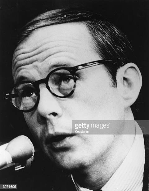 John Dean III former counsel to President Nixon during questioning by members of the Senate Committee investigating the Watergate scandal at...