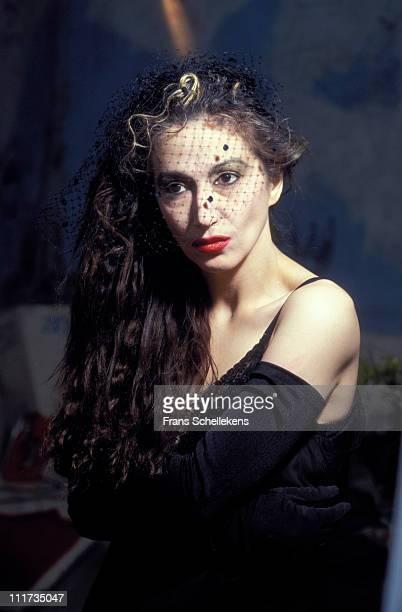 28th JUNE: French/Moroccan singer Sapho posed at de Melkweg in Amsterdam, Netherlands on 28th June 1991.