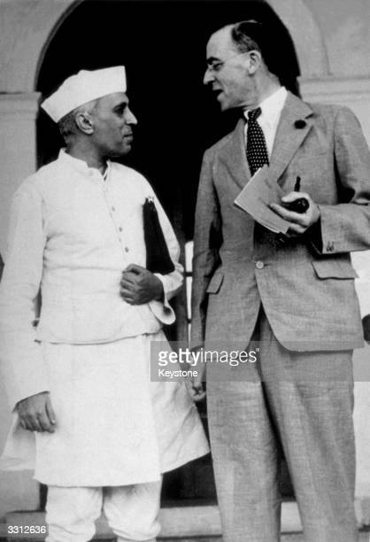 Sir Stafford Cripps and Pandit Nehru in New Delhi Cripps had visited India to offer the country Dominion status