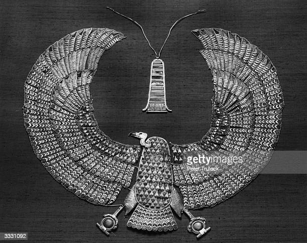 The treasures of Egyptian pharaoh Tutankhamen discovered by Howard Carter are on show at the British Museum in London including this 'Vulture Collar'...