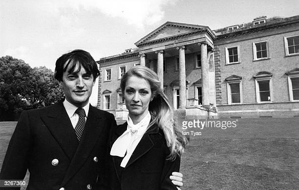 Lord and Lady Romsey in the grounds of Broadland showing the house in the background The house which formerly belonged to Lord Mountbatten is to be...