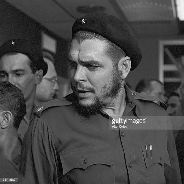 Argentine-born revolutionary Ernesto Che Guevara , who waged guerrilla warfare with the Castro brothers, arrives at Havana's Jose Marti International...