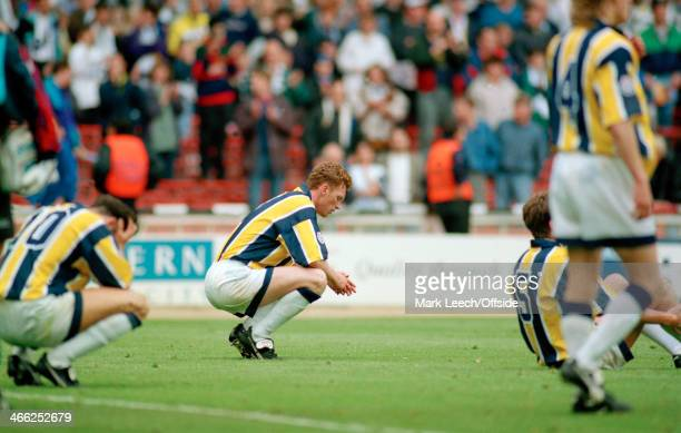 28th May 1994 English Football League Division Three Playoff Final Preston North End v Wycombe WanderersA dejected Preston captain David Moyes sinks...