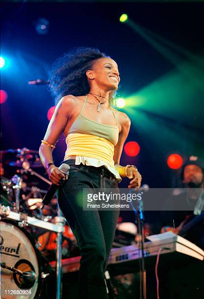 28th MAY: singer Cherokee performs at Drum Rythm festival in Westergasbriek, Amsterdam, Netherlands on 28th May 1999.
