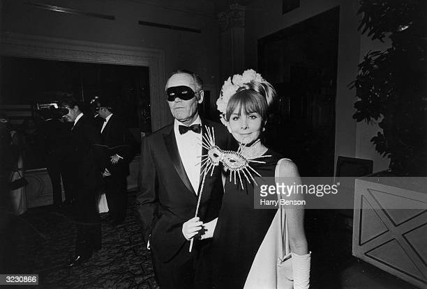 American actor Henry Fonda and his fifth wife Shirlee Mae Adams at Truman Capote's BlackandWhite Ball in the Grand Ballroom of the Plaza Hotel New...