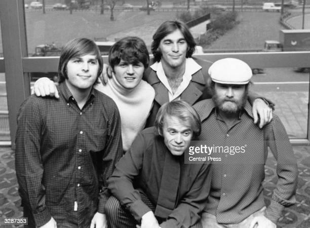 Top American pop group The Beach Boys, November 1968, comprising of Carl Wilson , Bruce Johnston, Dennis Wilson , Al Jardine and Mike Love.