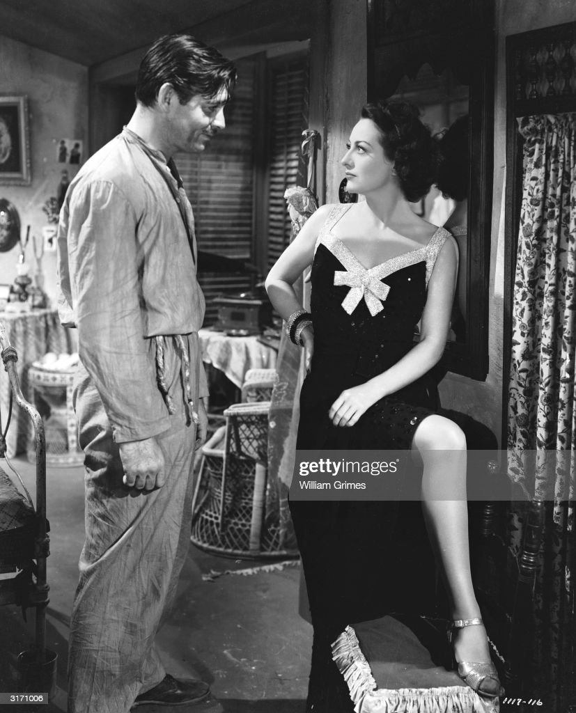 Clark Gable (1901 - 1960) and Joan Crawford (1904 - 1977) face to face in a scene from 'Strange Cargo', directed by Frank Borzage.