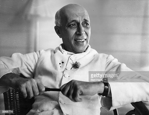 Jawaharlal Nehru the first Prime Minister of independent India looking relaxed during an interview Original Publication Picture Post 5141 A Voice...