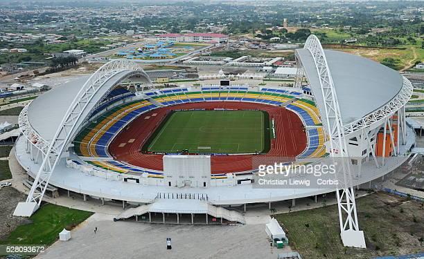 28th Orange Africa C of nationsCAN 2012 Equtorial Guinee Gabon Vue vaerienne du stade de l'Amitie a Libreville