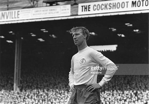Jack Charlton of Leeds United and England during a match as Leeds United play Manchester City