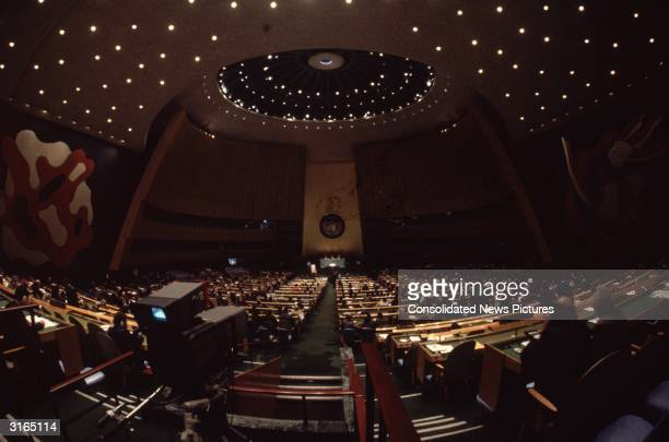 The United Nations General Assembly in New York.