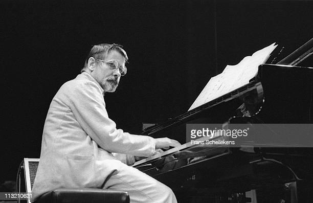 28th SEPTEMBER: Frans Elsen plays piano at de Meervaart in Amsterdam, Netherlands on 28th September 1985.