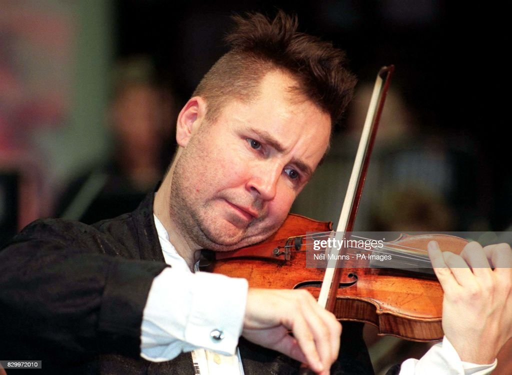 Violin player Nigel Kennedy playing during a special one-off
