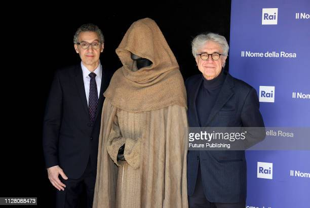 Us/Italian actor John Turturro and italian director Giacomo Battiato attends the photocall for Il nome della rosain Rome RAVAGLIPHOTOPHOTOGRAPH BY...