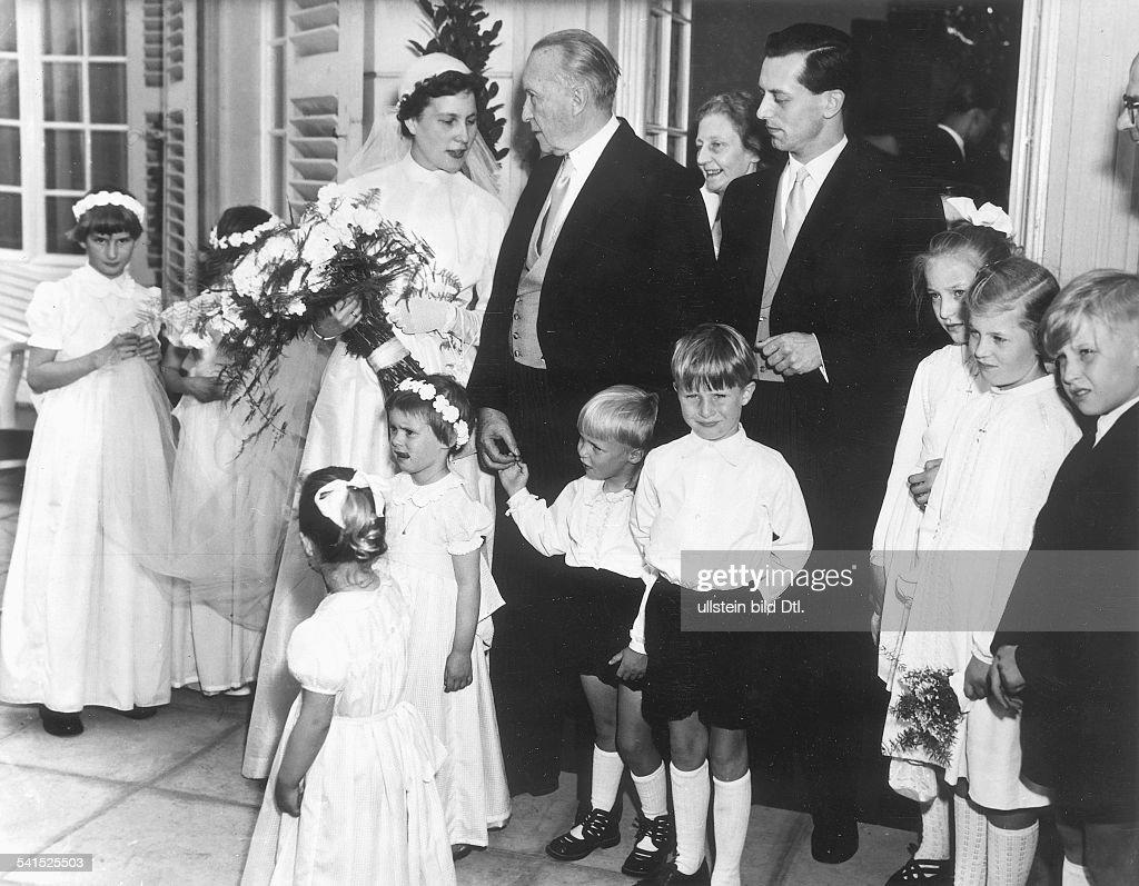 Lotte Multhaupt - Tochter von Konrad Adenauer - Hochzeit mit ...