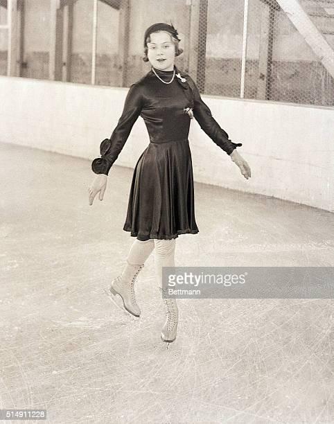 2/9/1932Lake Placid NY SONJA HENIE CHAMPION FIGURE SKATER DOES HER STUFF AT OLYMPICS Sonja Henie of Sweden the World's Champion figure skater is...