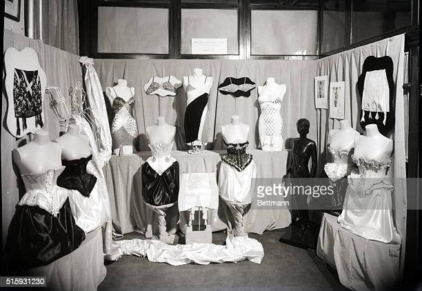 2/9/1938Dummies in corset shop of the late 1930's Photo taken in New York
