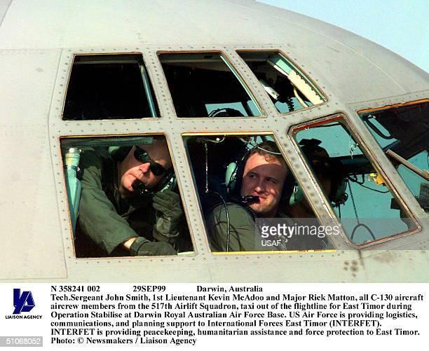 N 358241 002 29Sep99 Darwin Australia TechSergeant John Smith 1St Lieutenant Kevin Mcadoo And Major Rick Matton All C130 Aircraft Aircrew Members...