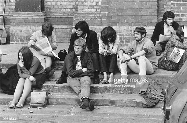 Hippies in the grounds of Alexandra Palace adjust to the pressures of normal life after attending the 14 hour Technicolour Dream concert, sponsored...
