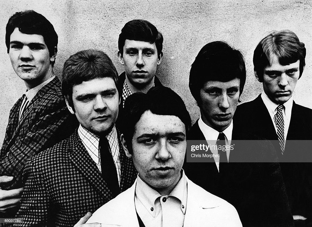 Photo of mid 1960s band The Broodly Hoo posed in Leicester, England on 29th April 1966.