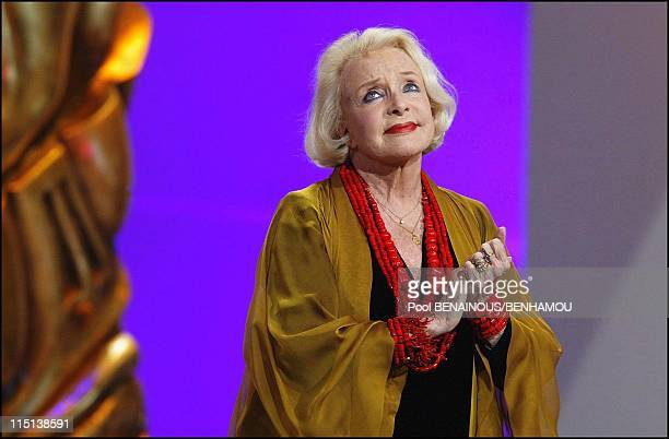 29th 'Cesar' awards ceremony in Chatelet theatre in Paris France on February 21 2004 Micheline Presle
