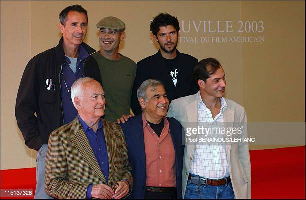 """29th Deauville film festival 2003: James Ivory for """"Le Divorce"""" in Deauville, France on September 07, 2003 - Left to right: Thierry Lhermitte,..."""