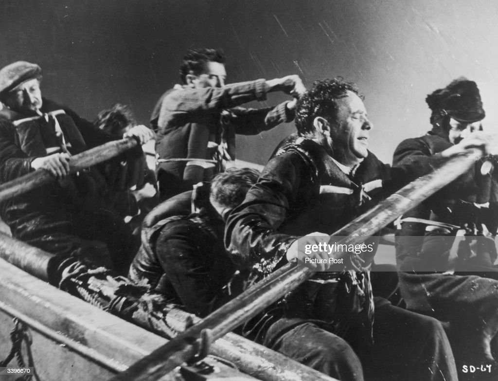 British actor Mervyn Johns in a scene from the British progaganda film 'San Demetrio London' made at Ealing studios. Original Publication: Picture Post - 5636 - The Ealing Studios Tradition - pub. 1951