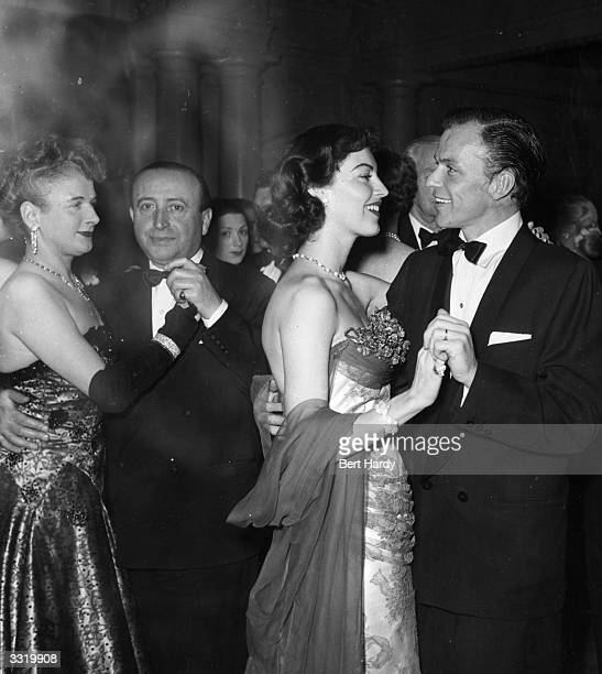 Frank Sinatra and Ava Gardner dancing at a party hosted by the Duke of Edinburgh for the friends and members of the Variety Club of Great Britain and...