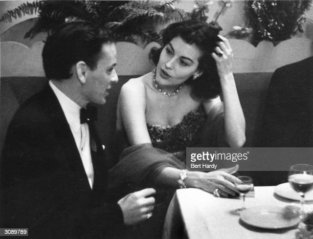 Frank Sinatra at a party given by the Duke of Edinburgh and held at the Empress Club, London. The Duke acted as host to members and friends of the...