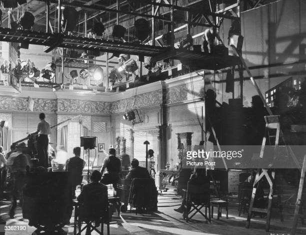 The comedy 'His Excellency' in production at Ealing studios London Original Publication Picture Post 5636 The Ealing Studio Tradition pub 1951