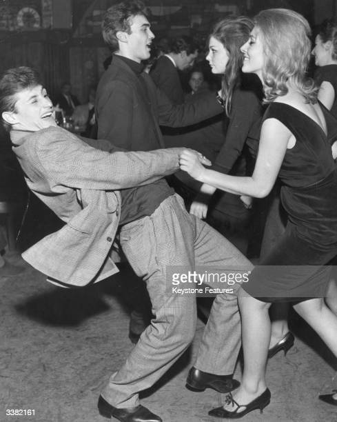 Visitors at the Aretusa nightclub in Milan practising the Twist the new dance craze which has sold over 80000 copies of one record