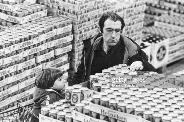 Shopping for lager at an AstroMarket shop