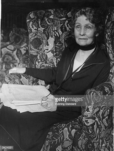 Emmeline Pankhurst nee Goulden English suffragette founder of the Women's Social and Political Union and tireless campaigner for the vote for women