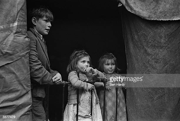 Young tentdwellers in the New Forest Hampshire They and their families live in one of the six designated compounds which house a total of 451...
