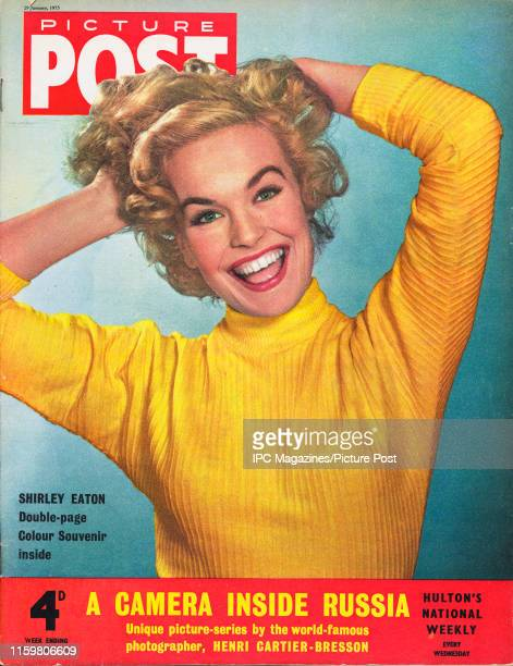 English actress Shirley Eaton is featured for the cover of Picture Post magazine Original Publication Picture Post Cover Vol 66 No 05 pub 1955