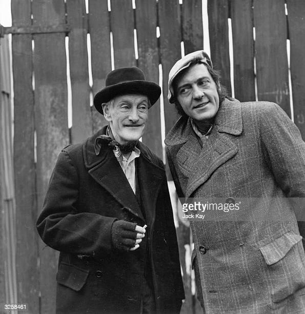 Steptoe and Son played by Wilfrid Brambell and Harry H Corbett respectively seen here in a scene from their latest series