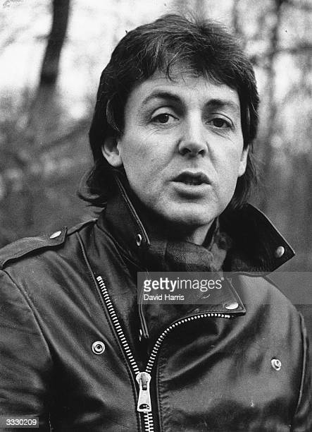 English pop star songwriter and composer Paul McCartney on his farm near Rye Sussex