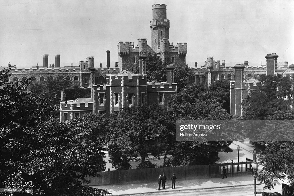 Holloway Prison, London, and its turrets.